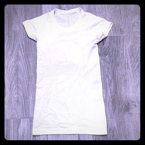 Lululemon white swiftly tech short sleeve- 2